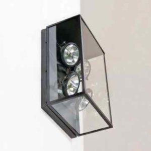 Außen Wandlampe mit 4 Strahler