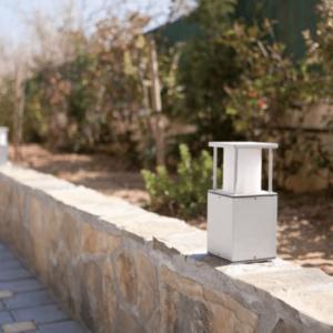 Außenlampe quadratisch für Mauerbegrenzung