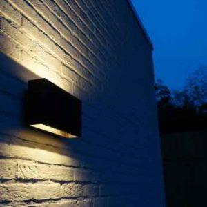 Breite LED Außen Wandleuchte up + down