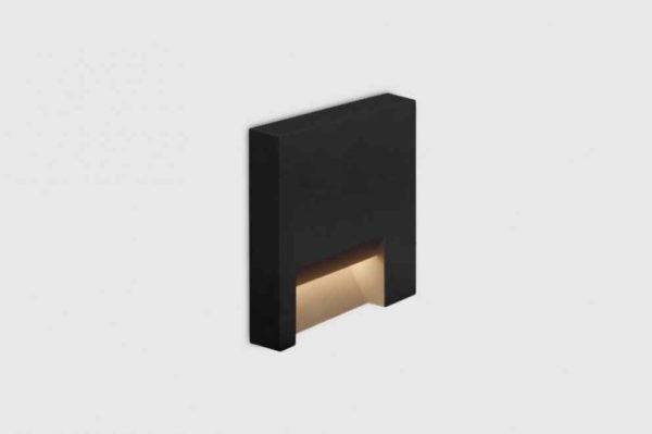 Design Wandeinbau Orientierungslicht außen schwarz quadratisch