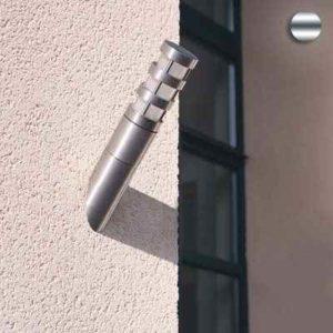 Edelstahl Fackel Wandlampe außen E27