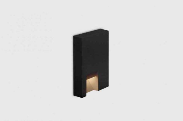Kleine Design Wandeinbau Orientierungslicht außen schwarz