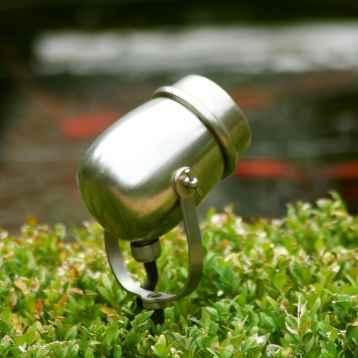 LED Gartenstrahler Nickel zum Stecken