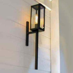 Moderne Bronze Wandfackelleuchte außen