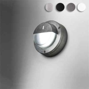 Runde kleine halbseitige Wandaufbau LED Leuchte außen 230 Volt