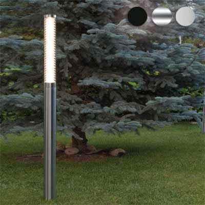 Schlanke LED Gartenleuchte aus Edelstahl in 3 Größen