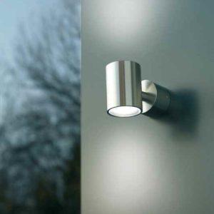 Schlichte LED Wand Außenleuchte Edelstahl
