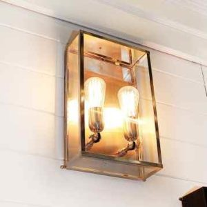 Stilvolle Chrom Außenwandlampe