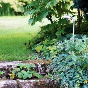 Treppenstufen im Garten beleuchten