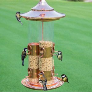 Große Metall Vogelfutterstion