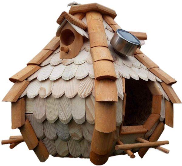 Vogel Futterhaus mit Licht