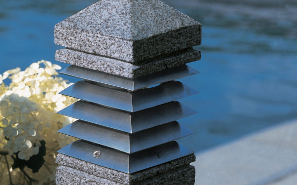 E27 Granit Pollerleuchte Detail