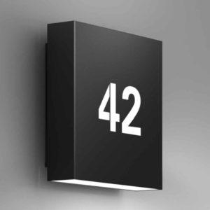 Moderne Hausnummerleuchte schwarz