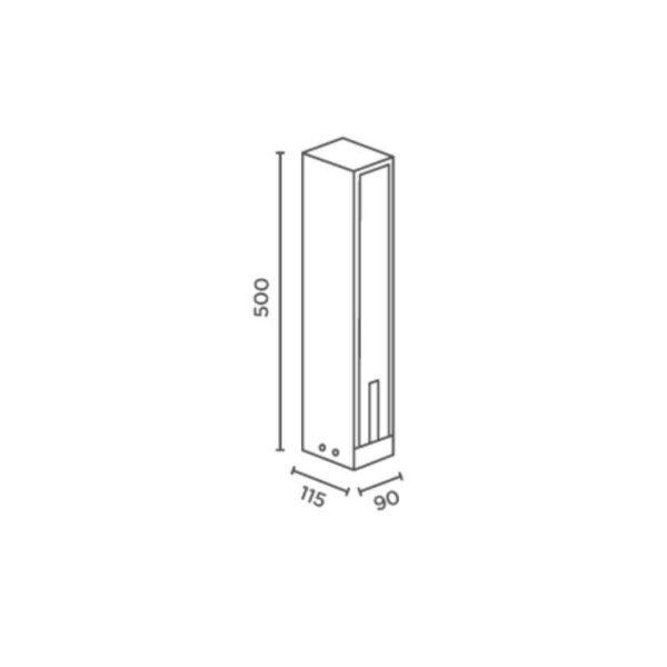 Moderne außen Steckdosensäule Abmessungen