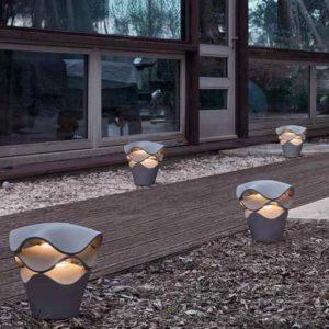 Futuristische Weg und Terrassenbeleuchtung