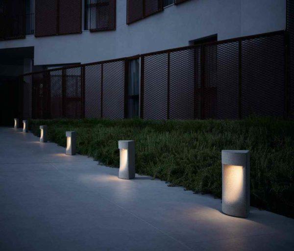 Kleine LED Betonpollerleuchten