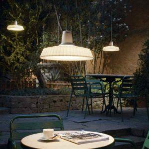 Mediterrane Tischbeleuchtung außen