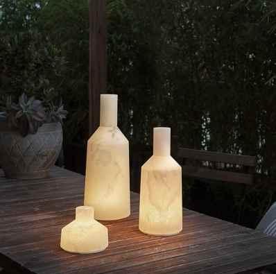 Alabaster Außenlampen mit Akku