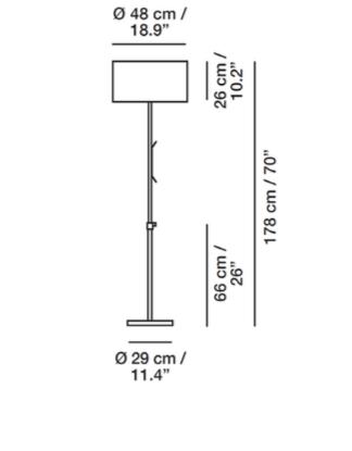 Flexible Stehlampe für außen Größe 1