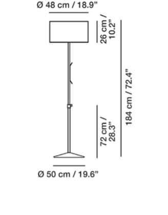 Flexible Stehlampe für außen Größe 2