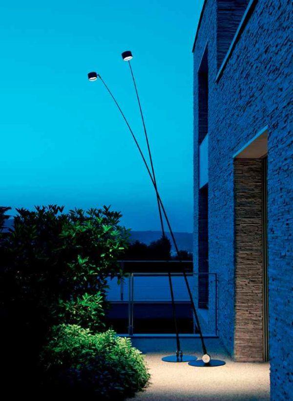 Große filigrane außen Stehlampe Anwendung