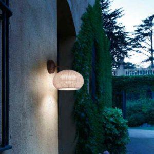 Mediterrane Geflecht Wand Anbaulampe außen