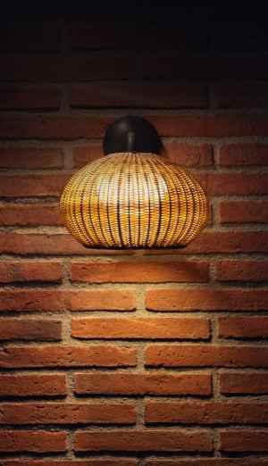 Mediterrane Wand Anbaulampe außen Frontansicht