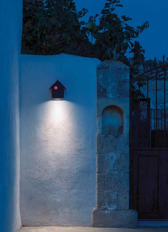 Wandlampe Vogelhaus außen