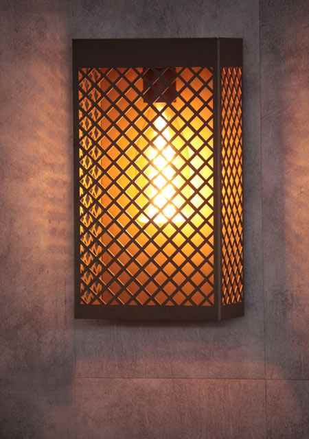 LED Gitterwandleuchte außen
