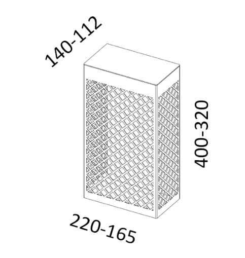 LED Gitterwandleuchten außen Abmessungen