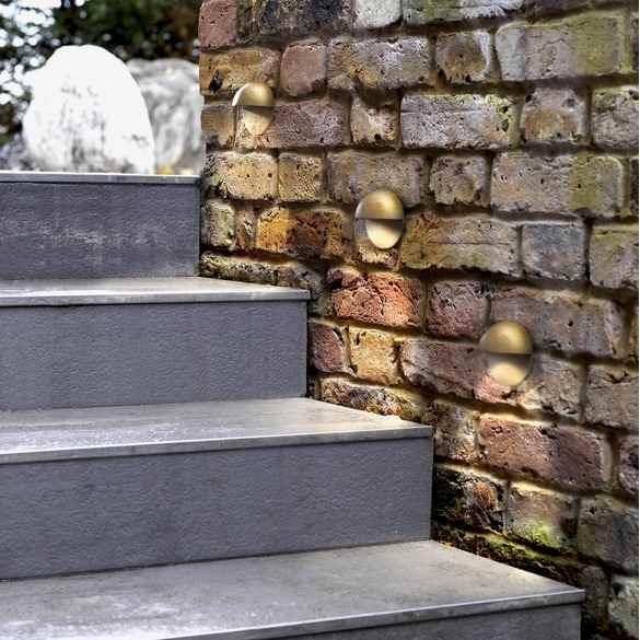 Messing Treppenstufenleuchte außen Anwendung