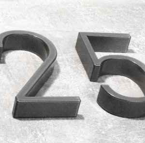 2cm dicke Hausnummer Ziffern