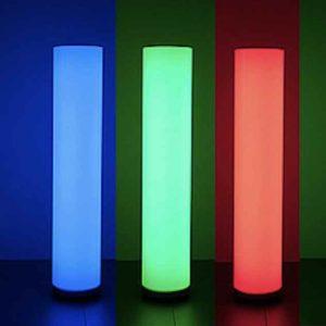 Farbige Garten Lichtsäulen