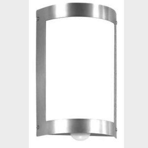 Gebogene Wandlampe außen mit Bewegungsmelder