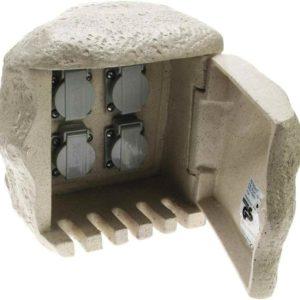 Steinsteckdose mit 4 Steckdosen
