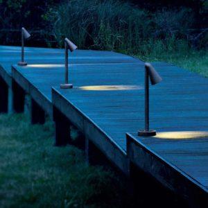Gartenleuchte mit gerichtetem Licht