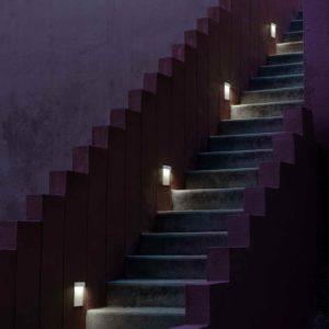 Moderne Treppenanlage Einbauleuchten außen