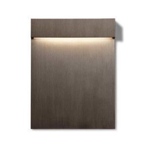 Moderne rechteckige Bronze Wandeinbauleuchte außen