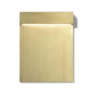 Moderne rechteckige Gold Wandeinbauleuchte außen