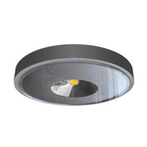 Runde schwarze LED Decken Anbauleuchte IP65