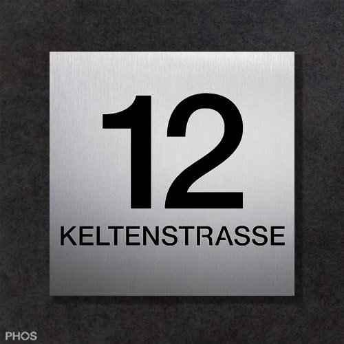 Hausnummerschild auf Maß