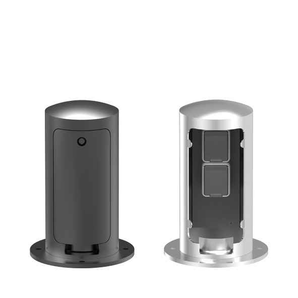 Kleiner abschließbarer Doppel Steckdosenpoller