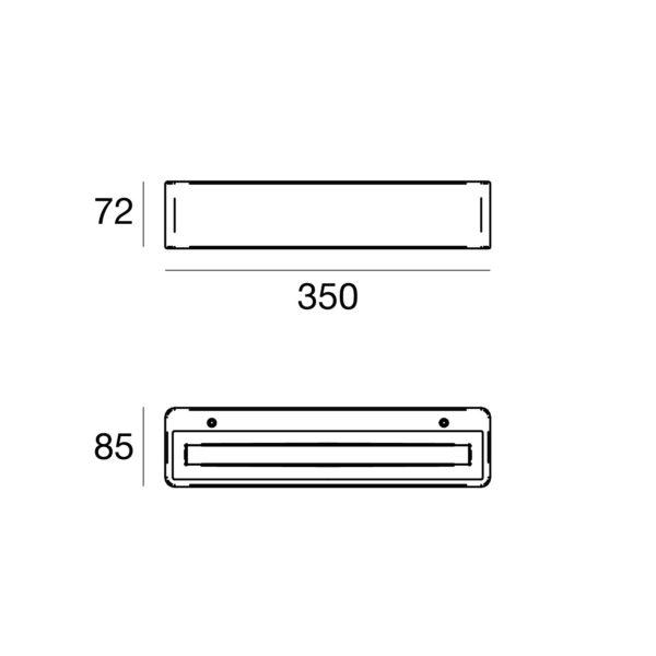 Moderne Beton Wandlampe für außen Abmessungen