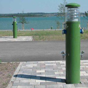 Öffentliche Versorgungspoller Licht Strom Wasser