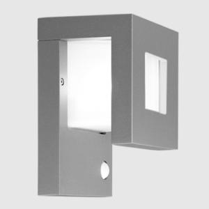 Wandlampe außen grau mit Bewegungsmelder