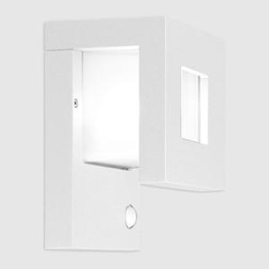 Wandlampe außen weiß mit Bewegungsmelder