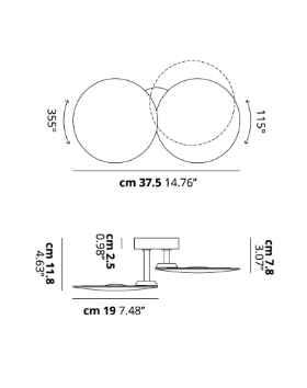Außen Wandleuchte rund verstellbar Abmessungen Einzelleuchte Doppelleuchte