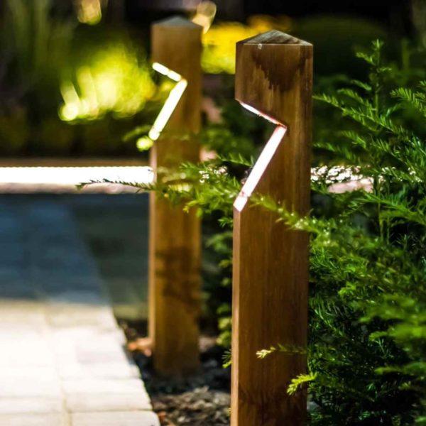 LED Holz Außenlampen