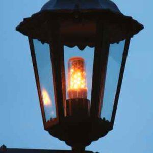 Flacker Leuchtmittel IP44 E27