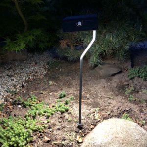 Pflanzbeete mit Solar beleuchtet